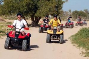 Randonnée quad, île de Djerba, Tunisie